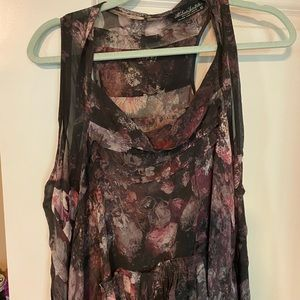 All Saints high lo sheer tunic
